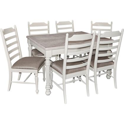Slater Collection D1032d16pc7 7-piece Dining Room Set With Extendable Dining Table And 6 Side Chairs In