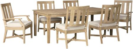 Clare View Collection P801-625-4SC2AC 7-Piece Patio Set with Rectangular Patio Dining Table  4 Side Chairs and 2 Arm Chairs in
