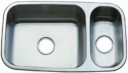 Z-200 Carini 31 1/4 inch  Double Bowl Dual Mount Kitchen Sink with Soundproofing System and Mounting Hardware in Stainless