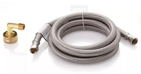 5304496070 6' Braided Stainless Steel Waterline For Dishwashers with 3/4 inch  Elbow  3/8 inch  X