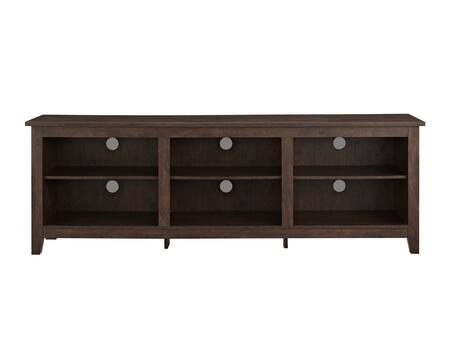 W70CSPTB 70 inch  Wood Media TV Stand Storage Console in