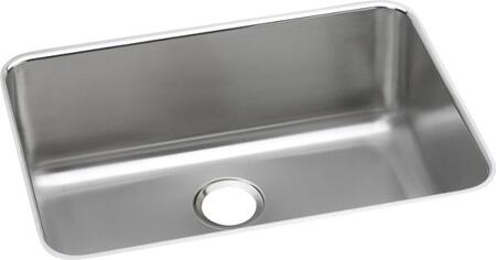 Lustertone ELUH241610 27 inch  Single Bowl Undermount Sink with 18-Gauge Stainless Steel Construction  Sound Deadening Material and Extra Deep Bowl
