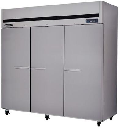 KTSF3 Triple Doors Freezer with 3 Doors  9 Shelves  72 cu. ft. Capacity  1 HP  LED Interior Lighting  in Stainless