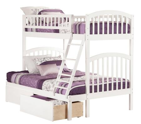 Richland AB64242 Twin Over Full Bunk Bed With Urban Bed Drawers In