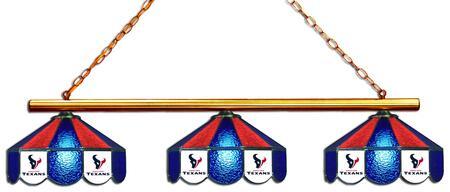 18-1134 Houston Texans Glass 3 Shade Lamp