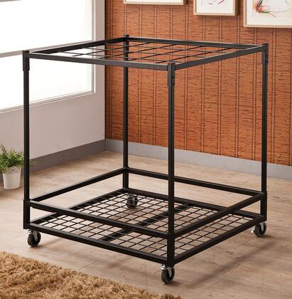 900050 Accents Rug Rack with Metal Construction and Holds up to 20 Rugs in Black