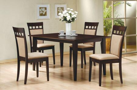 Gabriel Collection 1007714SC73 5-Piece Dining Room Set with Rectangular Dining Table and 4 Upholstered-Back Side Chairs in