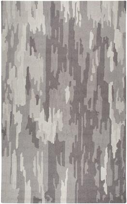 Rugs Collection 970203 5' x 8' Small Size Rug with Rectangular Shape  Abstract Design  100% Hand Dyed Blended Wool  Hand Crafted in India  Cut Pile and Looped