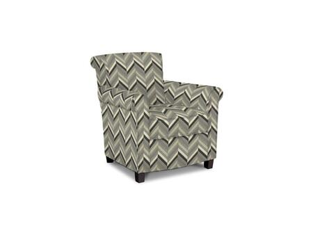 Roosevelt Collection 1148-02/BE67-9 31 inch  Accent Chair with Fabric Upholstery  Rolled Tight Back  Welted Sock Arms and Contemporary Style in Woven Geometric