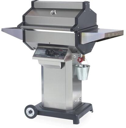 SDSSOCP Liquid Propane Grill with 25000 BTU  400 sq. in. Cooking Area  Stainless Steel Grill Head  Cast Aluminum End Caps  Stainless Steel Column and Black