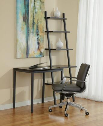1C100016PES Espresso Parsons Desk with Leaning Ladder