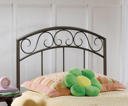 Wendell Collection 299HTWR Twin Size Headboard with Rails  Decorative Metal Scrollwork and Open-Frame Arched Panel Design in Copper