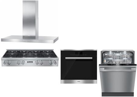 4-Piece Stainless Steel Kitchen Package with KMR1354LP 48