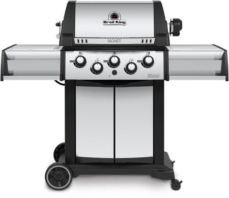 986887 Signet 90 Natural Gas Grill with 3 Burners  40000 BTU Main Burner Output  10000 BTU Side Burner and 15000 BTU Rotisserie Burner  400 sq. in. Cooking