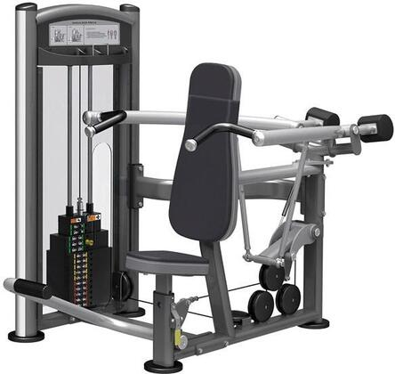 E-5081 Titanium Series 9312 Shoulder Press Machine with 200 lbs. Incremental Weight Stack  Military Grade Cables and High-Tech Oval Tubing in Black and