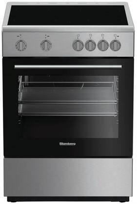 Blomberg BERU24202SS 24 Electric Range with 4 Elements 2.4 cu. ft. Oven Capacity Storage Drawer Easy Clean Enamel Finish Residual Heat Indicators in Stainless