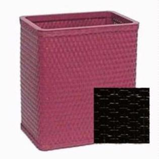 S426BK Chelsea Collection Decorator Color Square Wicker Wastebasket in