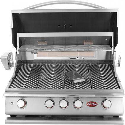 BBQ18P04 Premium Series Liquid Propane Grill with 4 Burners  Rotisserie Burner  Warming Rack  Igniter System  and Thermometer  in Stainless 906925