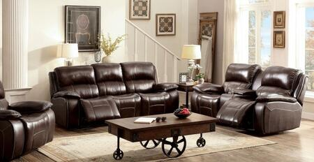 Ruth Collection CM6783BR-SLR 3-Piece Living Room Set with Motion Sofa  Motion Loveseat and Recliner in