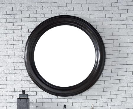 Vancouver Collection 505-M40-CEO 40 inch  Mirror with American Ash Solids  Beveled Glass and Recessed Keyhole Brackets in Cerused Ebony