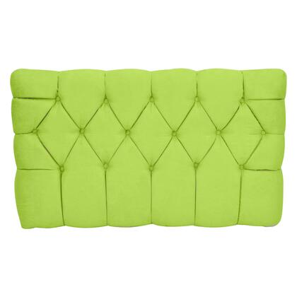 inch Meridia 11201LGS Collection inch  Tufted Upholstered Twin Headboard with Metal Legs and Wood Frame in Lime Green