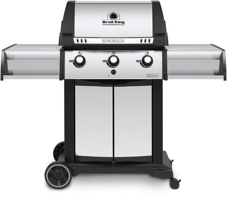 987814 SOVEREIGN 20 Liquid Propane Gas Grill with 3 Burners  44000 BTU Main Burner Output  450 sq. in. Cooking Area  Three Stainless Steel Dual-Tube  Burners
