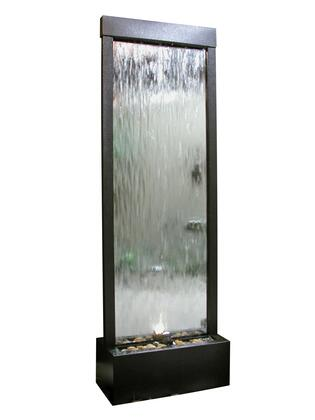MLT102 Mirror Waterfall-Silver with Decorative Stones &
