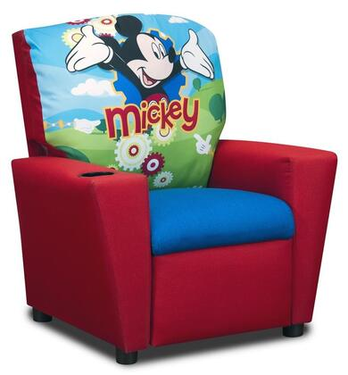 Juvenile 13001DMIC  inch Mixy inch  Kid's Recliner with Cup Holder  Ottoman  Soft Densified Fiber Upholstery and Hardwood Frame: Disney's Mickey Mouse