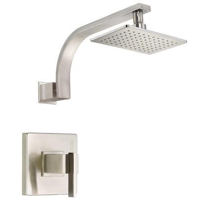D510544BNT Sirius 1-Handle Pressure Balance Shower Faucet Trim Kit in Brushed Nickel