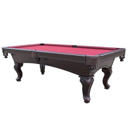 NG2585RD Monterey 8-Ft Mahogany Slate Pool Table W/ Red
