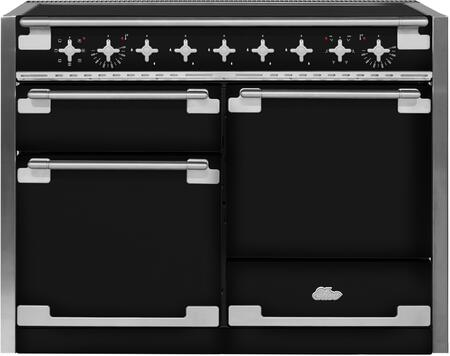 "AEL48INBLK 48"" AGA Induction Range with 6.0 cu. ft. Capacity Residual Heat Inductor Overheat Detection Child Safety Lock 9 Power Levels and Pan Detection"