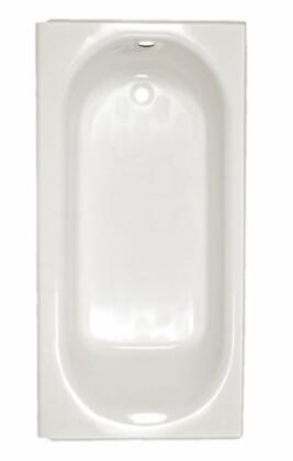 2397202W Luxury Ledge Above Floor Bath Tub with Right Hand Outlet and Brass Integral Drain: