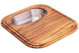 GN28-45SP Solid Wood Cutting Board with Polished Stainless Steel