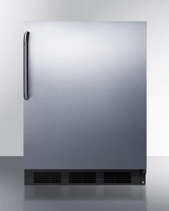 ALB653BCSS 24 inch  ADA Compliant Dual Evaporator Undercounter Refrigerator with 5.1 cu. ft. Capacity  2 Adjustable Glass Shelves  3 Door Bins  Adjustable
