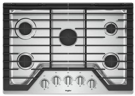Whirlpool WCG77US0HS 30 Stainless 5 Burner Gas Cooktop