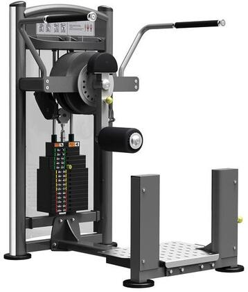 E-5079 Titanium Series 9309 Total Hip Machine with 200 lbs. Incremental Weight Stack  Military Grade Cables and High-Tech Oval Tubing in Black and