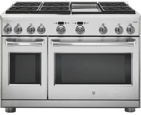 C2Y486SDLSS 48 inch  Dual Fuel Range with 8.25 cu. ft. Capacity  6 Burners  Griddle  240 Volts  in Stainless
