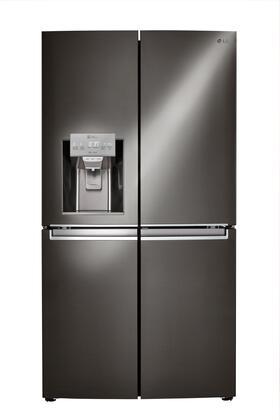 LG 22.7 Cu. Ft. 4-Door French Door, Door-in-Door Refrigerator Black stainless steel LNXC23766D