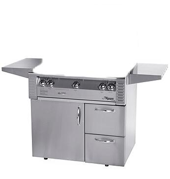 "XE-42CD 42"" Deluxe Grill Cart with Door and Drawers in Stainless"