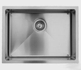 RS558 20 inch  Wide Undermount Single Bowl Sink - 18 Gauge: Stainless