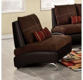 51762 Jolie Chair w/1 Pillow  Chocolate Suede & Black