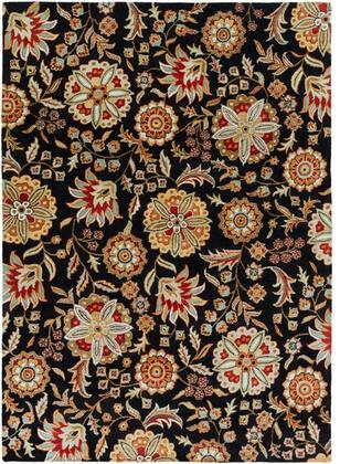 Athena Collection ATH5017-811 Rectangle 8' x 11' Area Rug  Hand Tufted with Wool Material in Black and Red