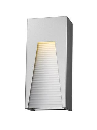Millenial 561M-SL-SL-FRB-LED 6 1 Light Outdoor Wall Light Contemporary  Metropolitan  Modernhave Aluminum Frame with Silver finish in Frosted