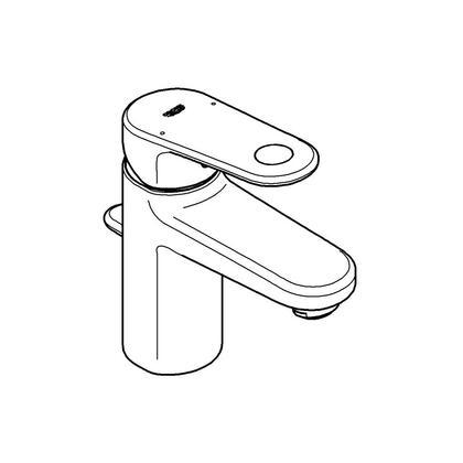 Grohe 3317000A Europlus Single-Handle Bathroom Faucet, Small, Starlight