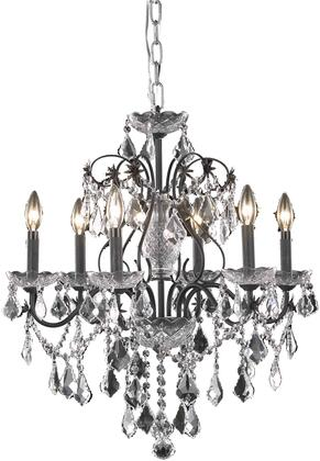 V2015D24DB/RC 2015 St. Francis Collection Chandelier D:24In H:21In Lt:6 Dark Bronze Finish (Royal Cut