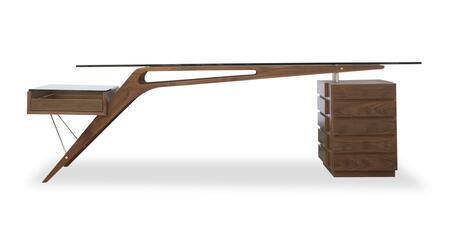 DESK-PROTRACTORWALNT 1949 Protractor Desk Mid-Century Modern  Walnut