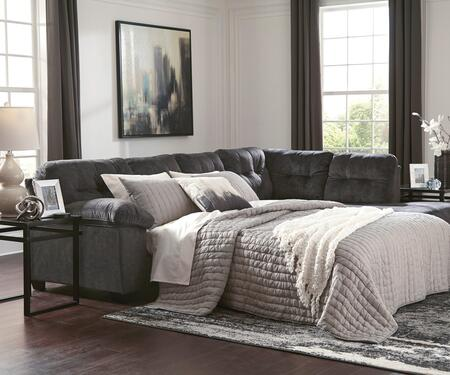 Accrington Collection 70509-69-17 2-Piece Sectional Sofa with Left Arm Facing Sofa Sleeper and Right Arm Facing Corner Chaise in
