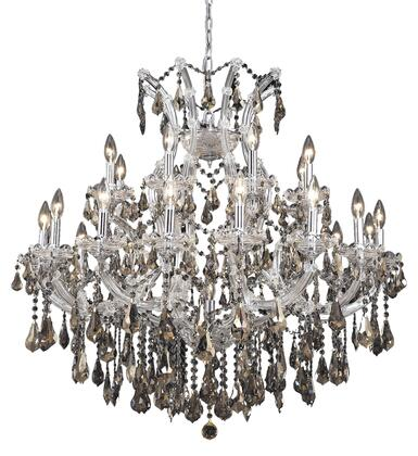 2801D36C-GT/RC 2801 Maria Theresa Collection Hanging Fixture D36in H36in Lt: 24+1 Chrome Finish (Royal Cut Golden