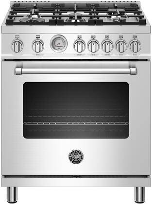 Bertazzoni MAST305GASXE Master Series 30 Inch Master Series Gas Range with 5 Burners, Convection, Soft-motion Hinges, 4.7 cu. ft. Capacity, Cast Iron