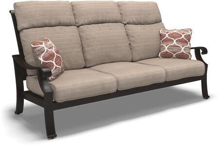 Chestnut Ridge Collection P445-838 82 inch  Outdoor Sofa with Removable Cushions  Nuvella Fabric  Pillows Included and Rust-Proof Aluminum Construction in